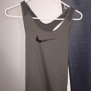 Gray Dri-fit nike work out shirt